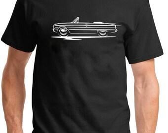 0e9e0f338 1960-63 Ford Falcon Convertible Redline Design Classic Outline Design Tshirt