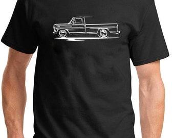 1967-72 Ford F-100 F100 Pickup Truck Classic Design Dark Version T-Shirt