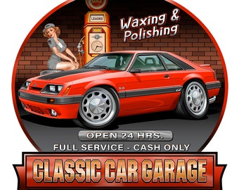 Mustang Classic American Muscle Car Vinyl Home Wall Decal Sticker VE74