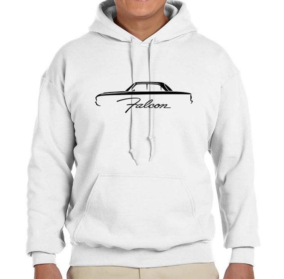 1960-63 Ford Falcon Hardtop Classic Outline Design Hoodie Sweatshirt
