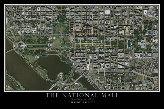 Washington DC - The National Mall Satellite Poster Map on map of the raleigh durham area, map of the outer banks nc area, map of the hampton roads va area, map of downtown washington dc, map of dc and surrounding areas, map of the tampa area, map of maryland and washington dc, washington dc metropolitan area, map of northern virginia dc area, map of the seattle area, map of the orlando area, map of the washington state, map of area around washington dc, map of dc and virginia, map of baltimore dc area, map of the salt lake city area, street map of dc area, map of wa dc area, map of the boston area, map of the houston area,