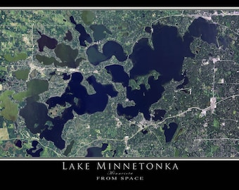 Lake Minnetonka Minnesota Satellite Poster Map