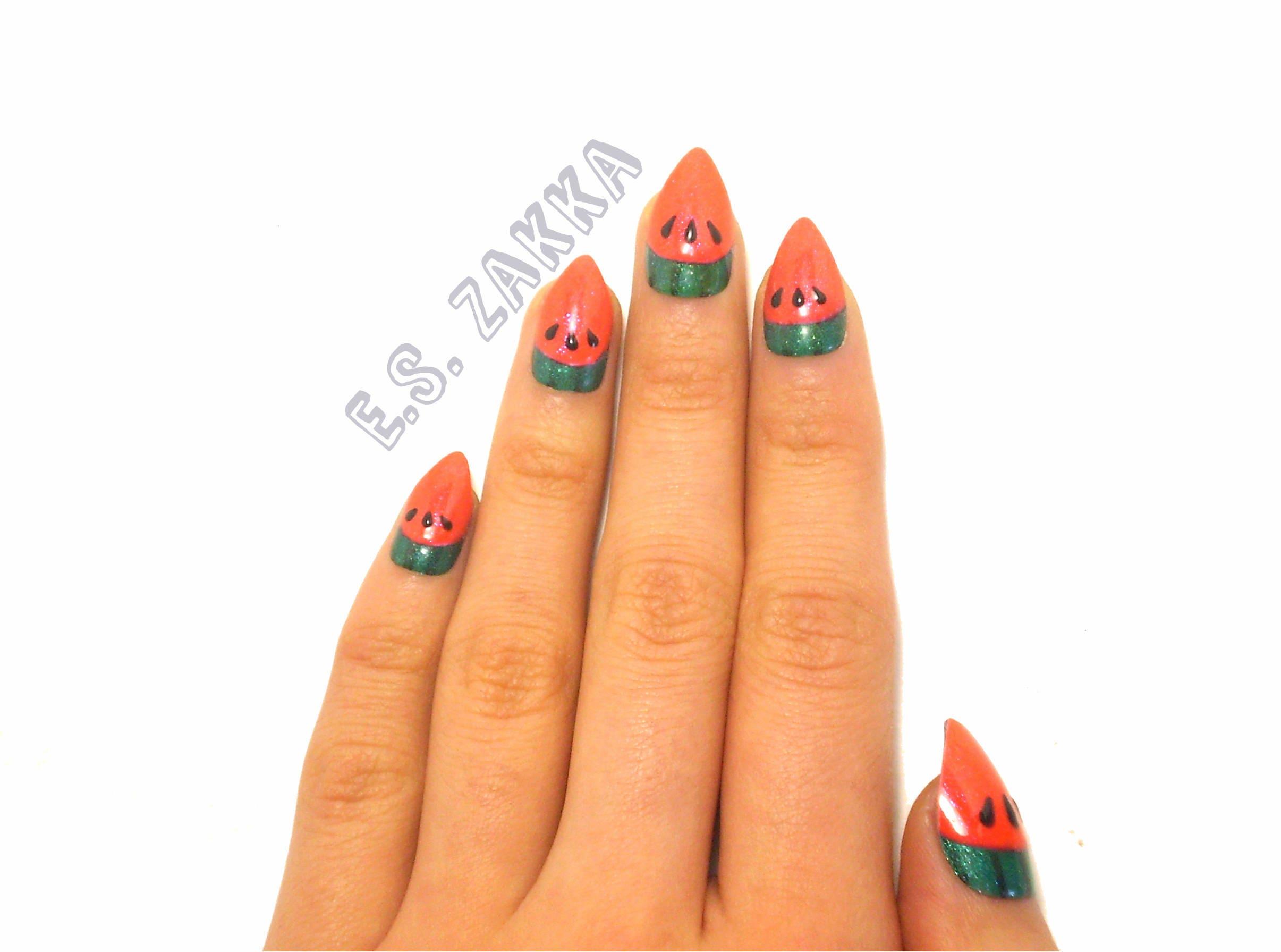 Watermelon Gel Nails / Fake nails, press on nails, gift women ...