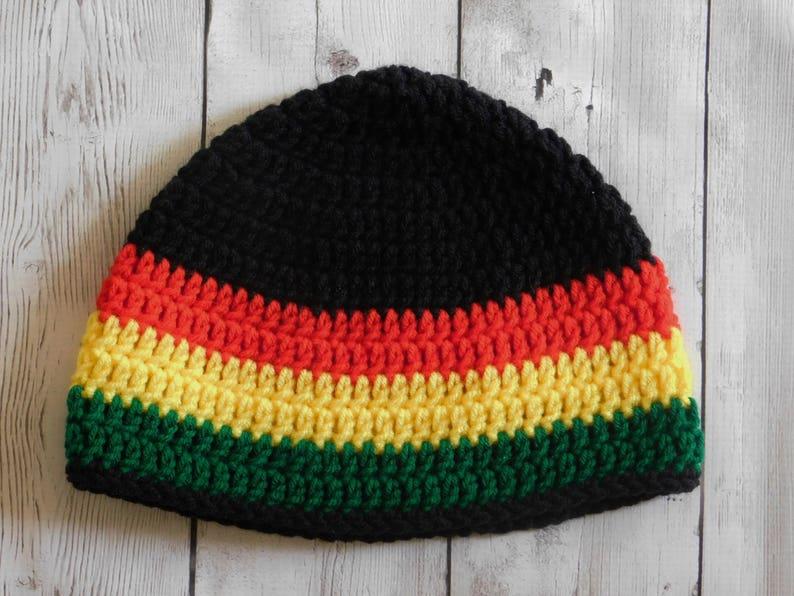 Rasta beanie Jamaican beanie rastafari rastafarian hat  dc420fc1b10
