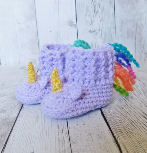 unicorn baby slippers unicorn shoes unicorn booties etsy. Black Bedroom Furniture Sets. Home Design Ideas
