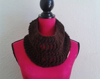 Brown Cowl scarf - chunky neck warmer - winter cowl - winter accessory - chunky scarf - chunky cowl scarf - gifts for her - gifts for mom