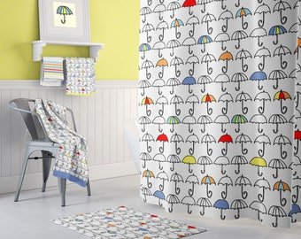 Kids Shower Curtain Extra Long Shower Curtains Kids Bathroom Decor Colorful Shower  Toddler Boy Decor Toddler Shower Kids Bath Curtain Fabric