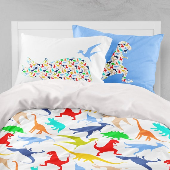 Dinosaur Duvet Cover Dinosaur Bedding Little Boy Duvet Set