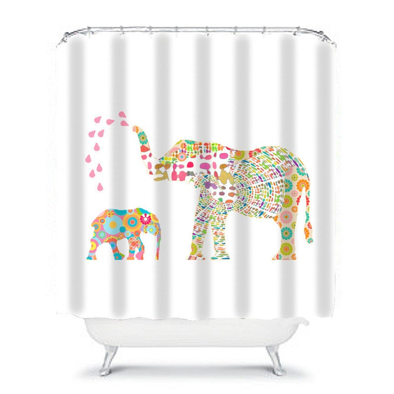 Kids Shower Curtain Elephant