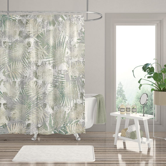 Tropical Summer Cactus Shower Curtain Polyester Bathroom Accessories Extra Long