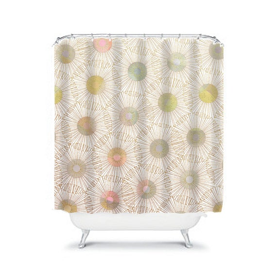 Ivory Shower Curtain Beige Bathroom Decor Champagne