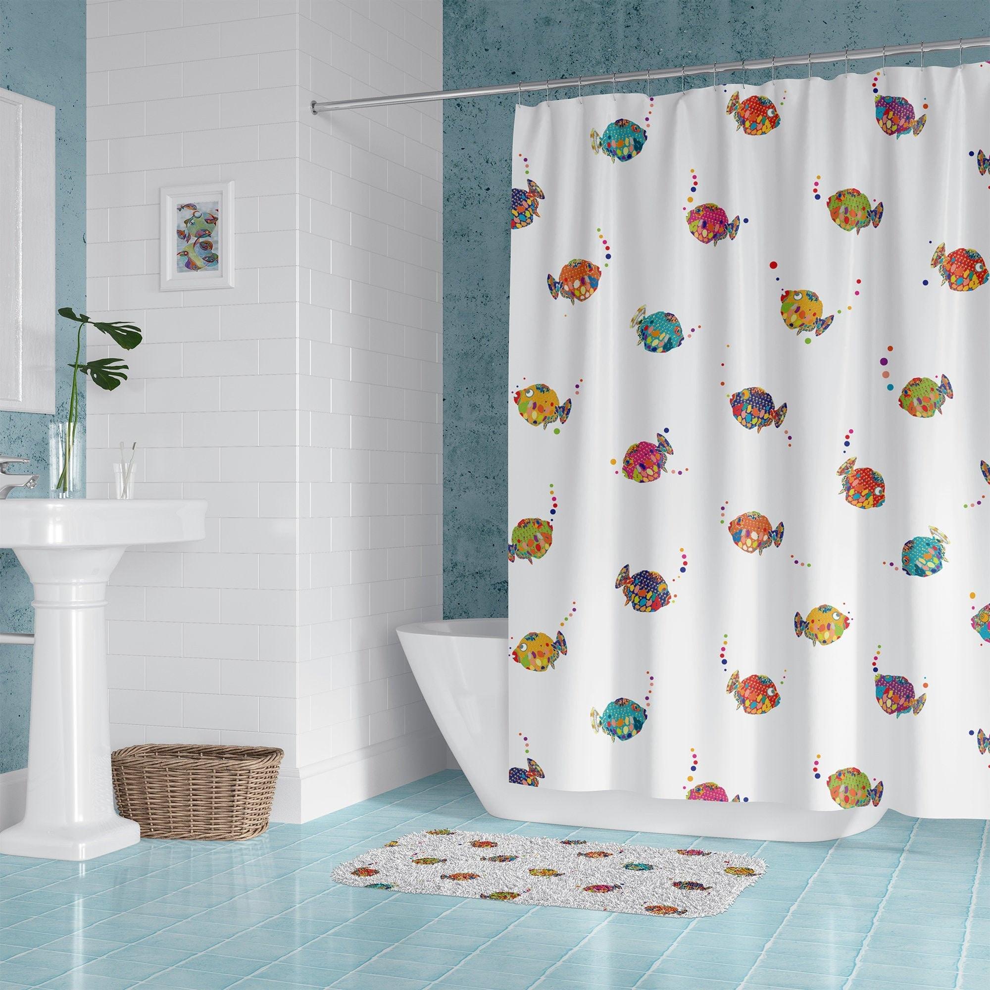 Colorful Kids Bathroom Decor Tropical, Fish Bathroom Set