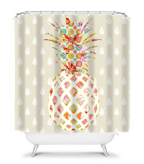 Pineapple Bathroom Decor Unique Shower Curtain