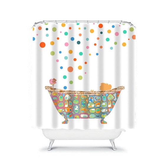 Kids Shower Curtain Bathroom Decor Curtains Child