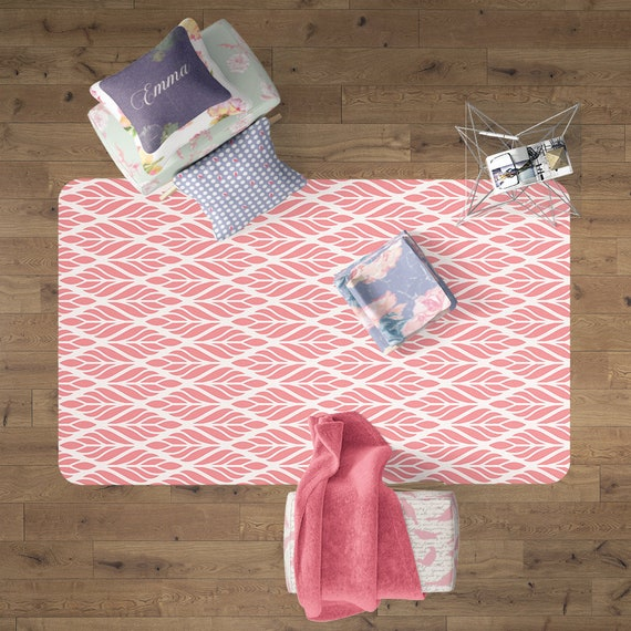 Pink Play Mat Nursery Area Rug Nursery Decor Dorm Rug