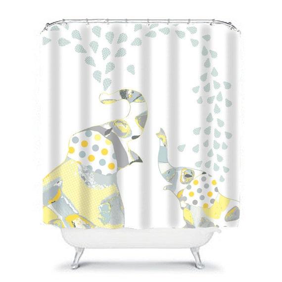 Kids Shower Curtain Elephant
