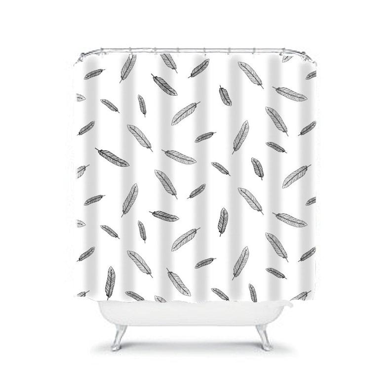 Boho Chic Shower Curtain Bohemian Feather