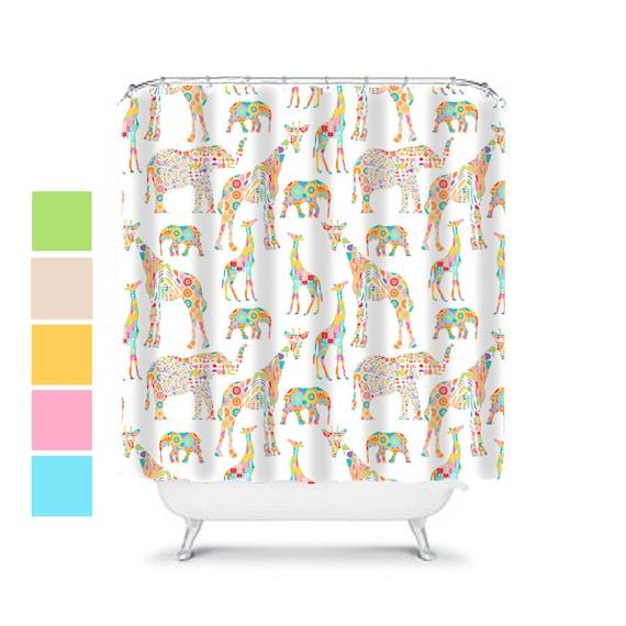 Elephant Shower Curtain Kids Bathroom Decor