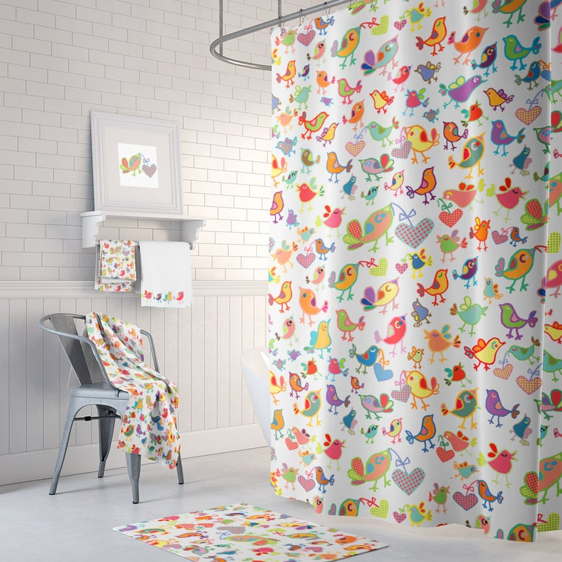 Kids Shower Curtain Colorful Curtains Extra Long