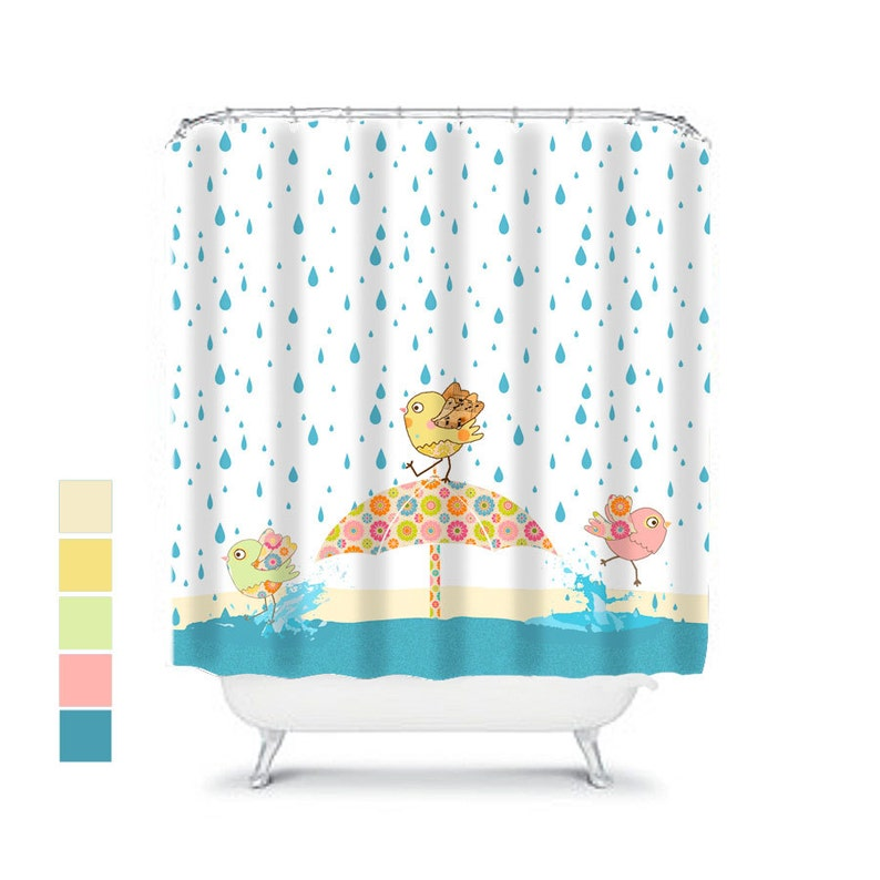 Kids Shower Curtain Bathroom Decor