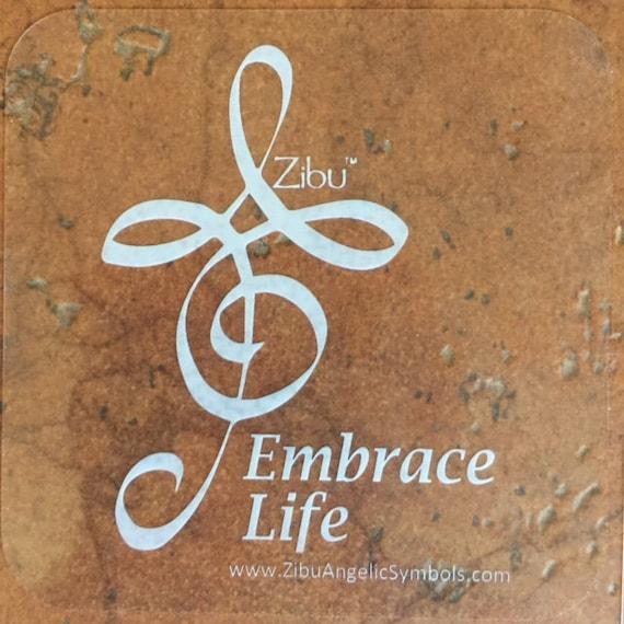 Zibu Embrace Life Symbol Vinyl Decal 3x3 Etsy