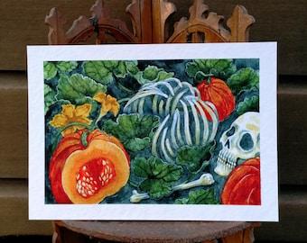 Samhain - illustration drawing print A5