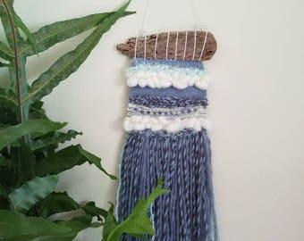 Weaving, woven wall decor, Sea themed.