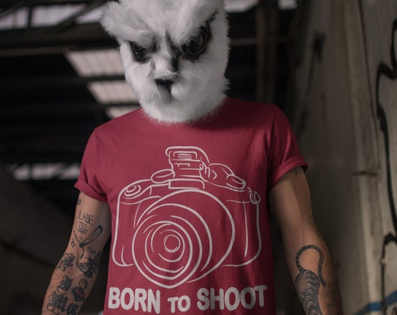 Born to Shoot. Photography Tee. Photographer T-shirt gift.