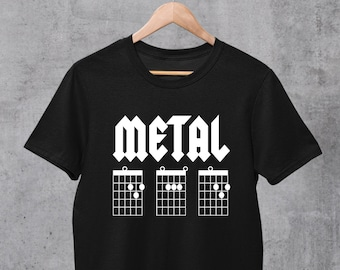 Metal Dad Shirt, Guitar Chords TShirt, Guitar Dad Shirt, Guitarist Shirt, Guitar Gifts For Dad, Fathers Day Gift, Dad Guitar Chord Shirt