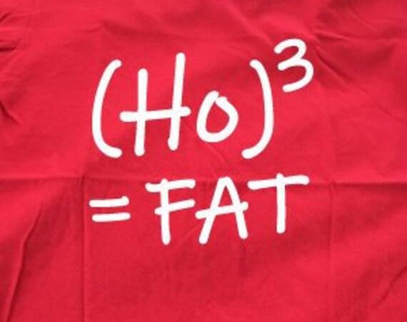 Ho Ho Ho Funny Christmas T-Shirt. Ugly Christmas Shirt. Santa Shirt. Funny Christmas Tee.