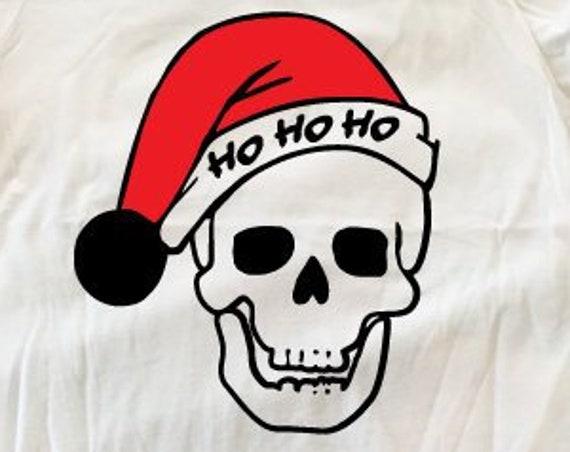 Santa Skull Christmas T-Shirt. Ugly Christmas Shirt. Santa Shirt. Funny Christmas Tee.