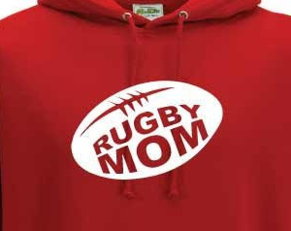 Rugby Mom Hoodie. Rugby Mom Gift. Rugby Mommy. Rugby Mum Hoodie. Unisex Rugby Hoodie.