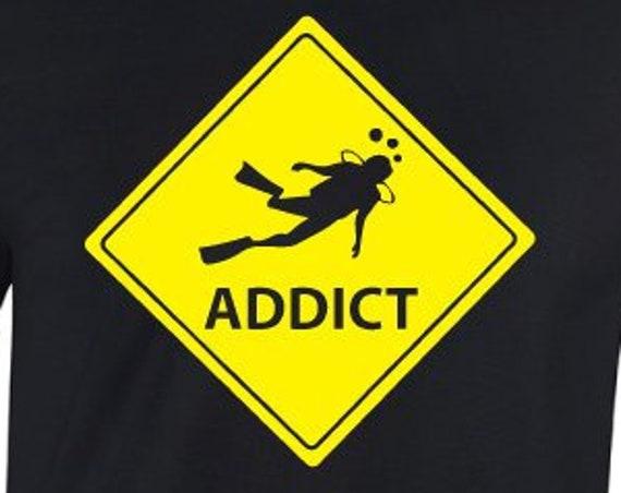 Dive Addict T-Shirt. Diving Shirt. Dive Shirt. Dive Gift. Scuba Diver Shirt. Scuba Shirt. Scuba Gift. Shirt For Divers.