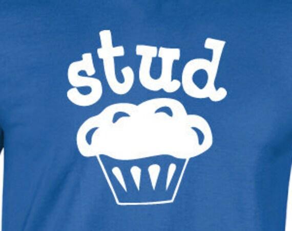 Stud Muffin T-Shirt. Stag Shirt. Rude Shirt. Shirt For Guys. Funny Party Shirt. Drinking Shirt.