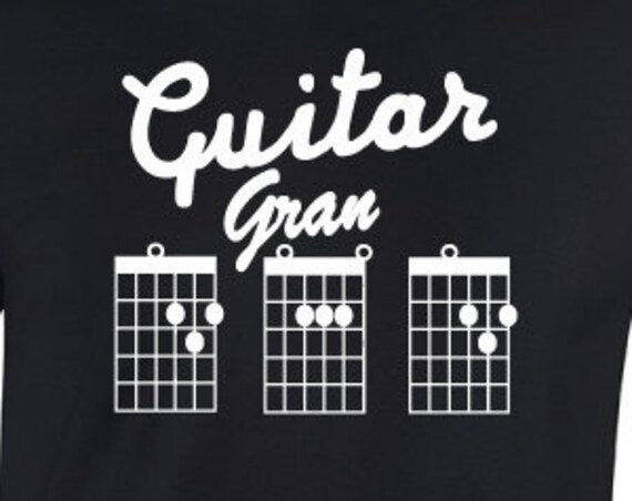 Guitar Grandad T-Shirt. Gran Dad Shirt. Shirt For Granddad's. Guitarist Chord Shirt. Grandad Shirt. Grandfather Gift.