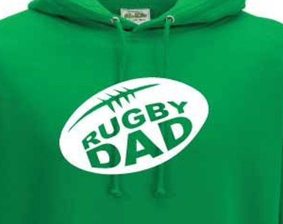 Rugby Dad Hoodie. Rugby Hoodie. Dad Gift. Father's Day Gift. Dad Hoodie.