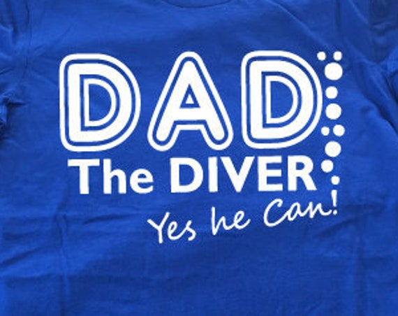 DAD the Diver T-Shirt. Funny Dad Shirt. Gift For Dads. Scuba Diver Shirt. Funny Dive Shirt. Gift for Divers. Dad Gift. Father's Day Gift.