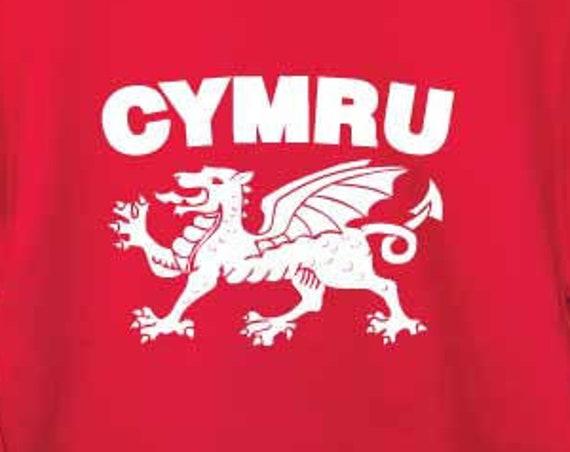 Cymru Sweatshirt. Welsh Sweatshirt. Wales Sweatshirt. Welsh Sweater. Welsh Gifts. Welsh Souvenir. Love Wales. Welsh Dragon. Wales Gift.