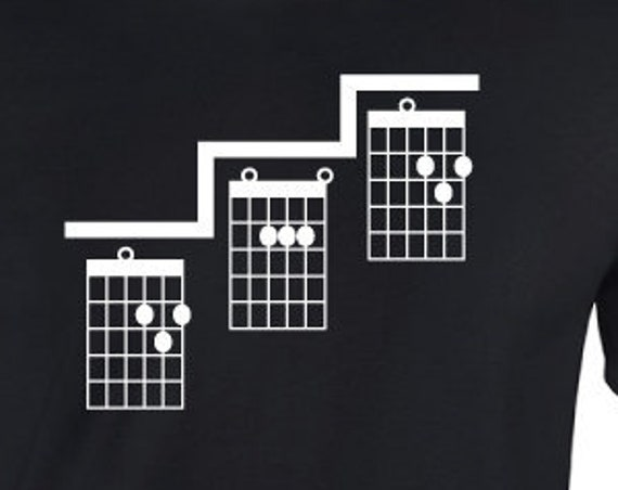 Step Dad T-Shirt. Step Dad Guitarist Shirt. Step Dad Shirt. Dad Chord Tab Shirt. Guitar Dad Gift. Father's Day Gift.