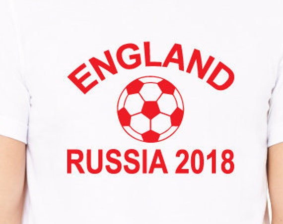 England Russia 2018 Shirt. England Football World Cup Support Shirt. English Football Shirt.