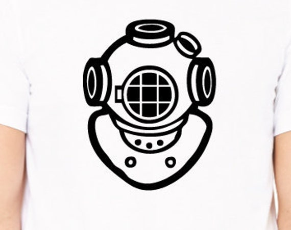 Vintage Diving Helmet T-Shirt. Scuba Diving Shirt. Scuba Shirt. Scuba Gift. Dive Shirt. Vintage Dive Shirt. Gift For Divers.