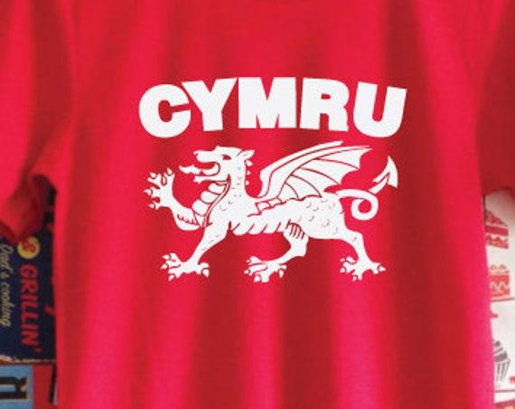 Cymru Shirt. Welsh T-Shirt. Welsh Dragon Shirt. Unisex Wales T-Shirt. Welsh Gift. Wales Fan Shirt.