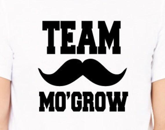 Team Mo Grow Moustache Shirt. Funny Movember T-Shirt  Moustache Gift. Movember Shirt. Mustache Shirt.