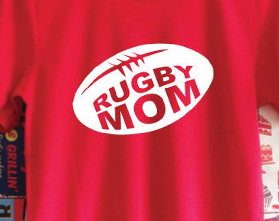 Rugby Mom T-Shirt. Rugby Shirt. Mom Shirt. Rugby Mum. Mother's Day. Mom Gift.
