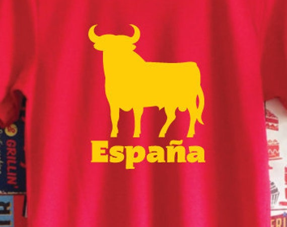 España Shirt. Torro Shirt. Spain Shirt. Spanish Bull Shirt. Spain Gift. Spanish Fan Shirt. Football Worldcup Shirt.