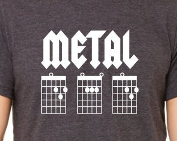 Metal Dad. Dad Shirt. Guitar Chords Shirt. Guitar Dad Shirt. Father's Day Gift. Gifts For Dad. Guitar Player Gift. Guitarist Shirts.