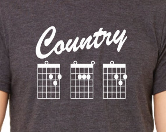 Country Dad Guitar Chords T-Shirt. Country Music Dad. Guitar Dad Shirt. Father's Day Gift. Dad Shirt.