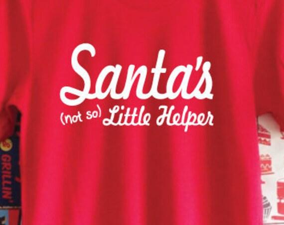 Santa's Not So Little Helper T-Shirt. Christmas Shirt. Santa Shirt. Santa's Little Helper Shirt.