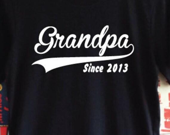 Grandpa Since Custom Shirt. Custom Grandad T-Shirt. Customize with Year. Personalised T-Shirt. Custom T-Shirt. Grandpa Gift. Grandad Shirt