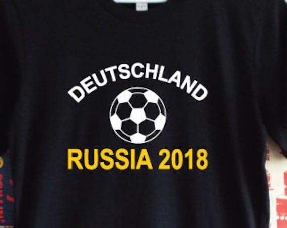 Deutschland Russia 2018 Shirt. Germany Russia 2018 Football World Cup Support Shirt. German Football Shirt.